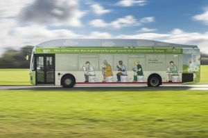 New UK bus powered by human waste lowers harmful emissions